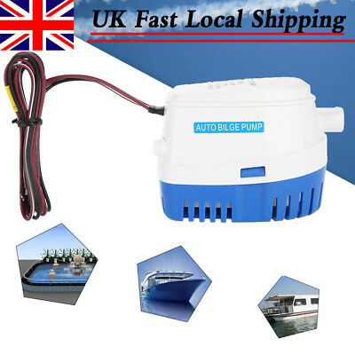 12V 3A 750GPH Boat Automatic Submersible Auto Bilge Water Pump W/ Float Switch
