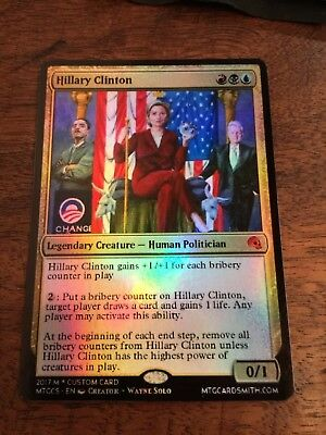 Hillary Clinton Magic The Gathering MTG card Planeswalker President Donald Trump