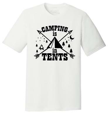 Mens Camping Is In Tents Tri-Blend Tee Camper Outdoors Spoof Graphic Shirt