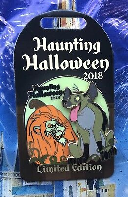 Disney Parks Haunting Halloween 2018 Lion King Scar Laughing Hyena Pin LE 3000