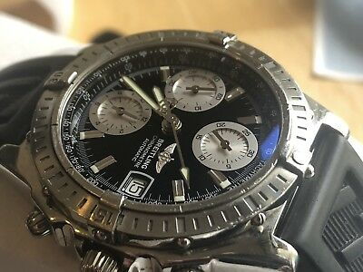 Breitling A13352 Chronomat Black Dial Automatic Swiss Watch