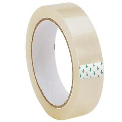 """CLEAR STRONG TAPE PACKAGING ROLLS PARCEL PACKING SELLOTAPE 1"""" 24mm x20m CELOTAPE"""