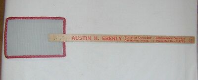 "Vin 19""  Advertising WIRE MESH WOOD HANDLE FLY SWATTER from 1950s Hbg, PA NOS"