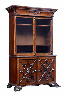 Mid 19Th Century Carved Mahogany Danish Bookcase