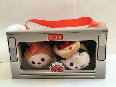Disney Tsum Tsum ~ Mickey and Minnie Mouse Chicago City Set ~ New In Box