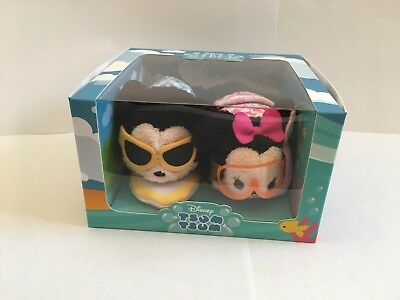 Disney Tsum Tsum ~ Mickey and Minnie Mouse Hawaii City Set ~ New In Box