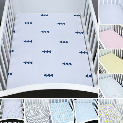 Baby Nursery Cotton Fitted Sheet/Crib Cot Bed Matching Bedding Multi Color