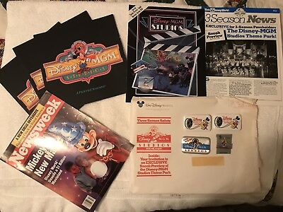 Disney MGM Studios Promotional Magazines and Pins Lot