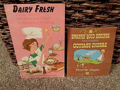 Vintage Lot Of 2 Recipe/cook Booklets..dairy Fresh/cottage Cheese..old Home