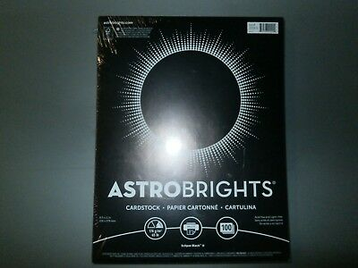 "Astrobrights Colored Cardstock 8.5"" x 11"", 65 lb, Eclipse Black, 100 Sheets"