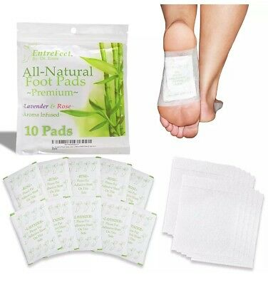 Dr Entre's Foot Pads Mother Nature's Best For Pain Relief Deep Sleep Aid 10 Pack