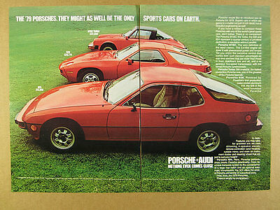 1979 Porsche 911SC 911 SC Targa 928 & 924 red cars photo vintage print Ad