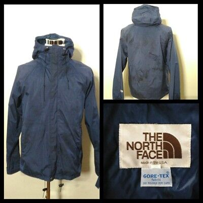 North Face Coat Men's Lg. Brown Tag-1970's Blue Mid-weight Inv#S8510