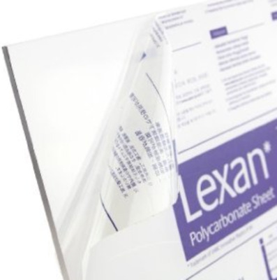 "Lexan Polycarbonate Sheet  Clear  0.250"" - 1/4""  x 24"" x 48"" - Thermoforming"