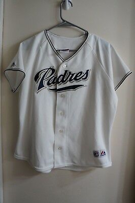 14255a66c Majestic San Diego Padres MLB Jersey Ladies Women s Button Up Sewn Size  Large