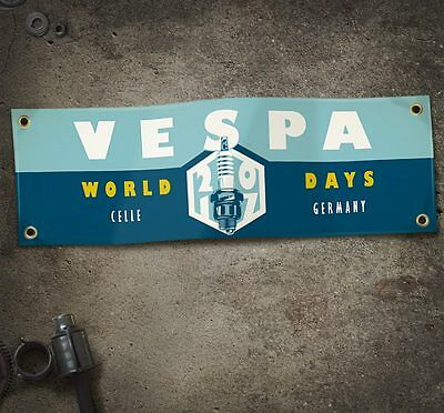 Vespa World Days 2017 Beinschild Banner Vespa Roller Scooter