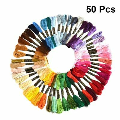 50pcs/lot Cross Stitch Cotton Embroidery Thread Floss Sewing Skeins Craft