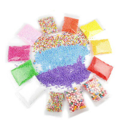 15Pack Mini Foam beads with Slime Tools and Fruit Slice for Art DIY Craft Toys