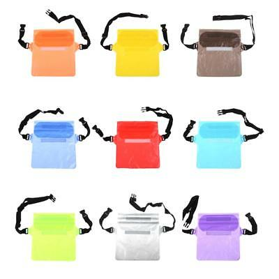 PVC Waterproof Waist Pouch Bag Underwater Dry Case Cover Storage For Phone Money