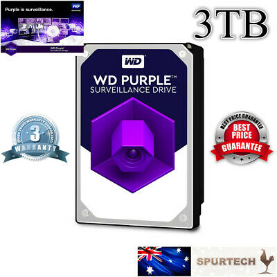 "New OEM Western Digital WD Purple 3.5"" 3TB Surveillance Internal Hard Drive"