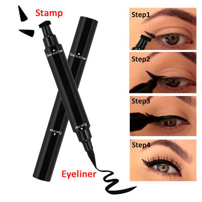 Black Eyeliner Vamp Pen Seal Eye Liner Stamp Dual-headed Makeup Tool Waterproof