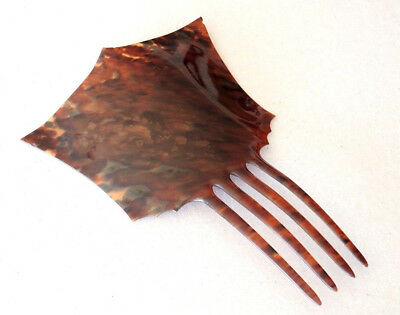 Antique? Tortoiseshell Colour Large Mantilla Shape Hair Comb Great Colours #11