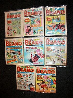 Vintage Beano Comics Job Lot (78 In Total) 1989-1997 Bundled By Year