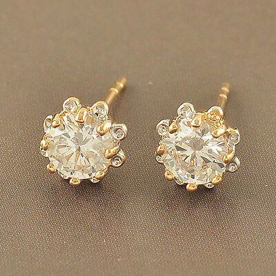 3e94ed548a82c CHILDREN BABY GIRLS earings Yellow Gold filled safety cute Flower Hoop  Earrings