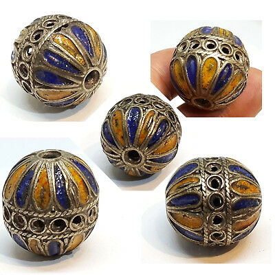 Vintage Antique Afghan Bead Collectors Choice With Beautiful Carving Unique