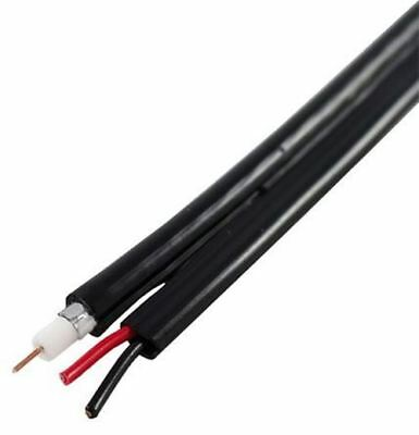 RS Pro Black RG59 Shotgun Cable, Polyvinyl Chloride PVC Sheath 250m, 6.1mm OD