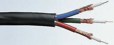 RS Pro Black Coaxial Cable, Polyvinyl Chloride PVC Sheath 100m, 75 Ω, 7.2mm OD