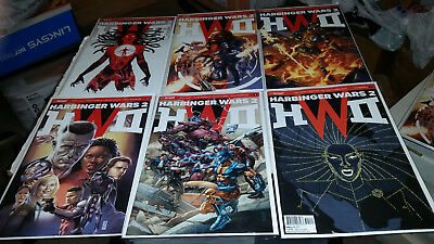 Harbinger Wars 2 Prelude 1 2 3 4 Aftermath Cover A (2018, Valiant) 1st Print