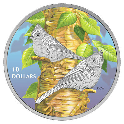 2017 Canada Birds Nature's Tufted Titmouse 1/2 oz Proof Silver In OGP SKU47218
