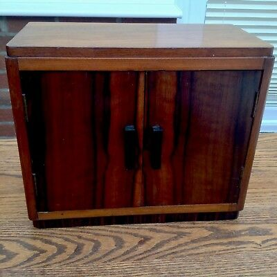 1930's Art Deco handcrafted veneered two door Wall Cupboard very sturdy