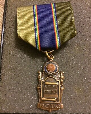 American Legion Scholastic Excellence ROTC Medal Pin Ribbon Bronze With Box