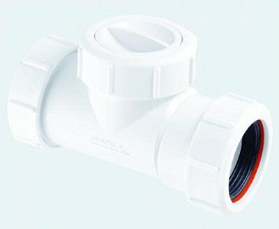 "McALPINE Plumbing PVC Waste Non Return Valve Pipe use 11//2/"" or 40mm Uni Fit Size"