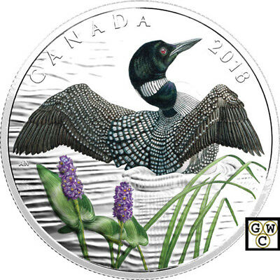 2018 'Common Loon-Beauty and Grace' Color Prf $10 Silver Coin .9999Fine(18412)NT