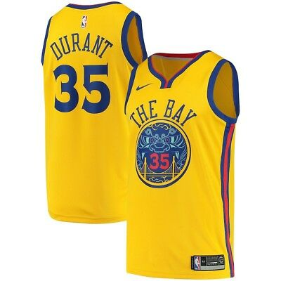 771e3ddbece0b NWT Nike Golden State Kevin Durant Swingman City Edition Jersey Men s L 48   110