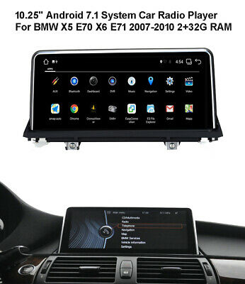 """10.25"""" Android Car GPS Radio Player For BMW X5 X6 E70 E71 2007-2010  CCC System"""