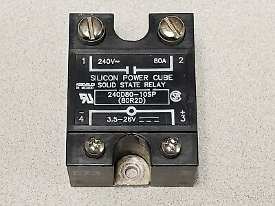 Silicon Power Cube Solid State Relay 80a 80 amp L73 91244 240D80-10SP 80R2D