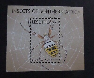 Lesotho 2002 Insects Orb Web Spider UM MNH unmounted mint