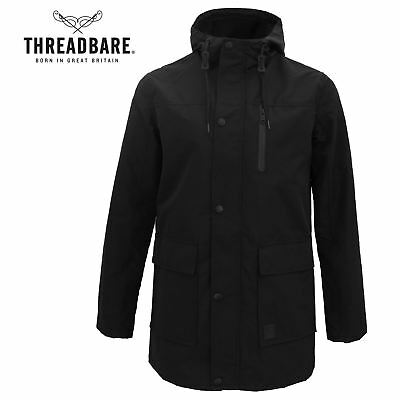 8e13a3ce5e33 Mens Threadbare Lightweight Parka Longline Fishtail Trench Coat Hood Mac  Jacket