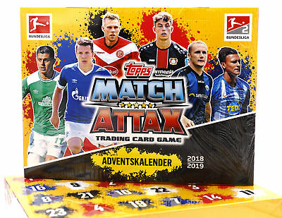 Match Attax Weihnachtskalender.Topps Bl19 Ac Match Attax Adventskalender 2018 2019 Bundesliga Fussball