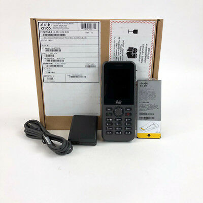 Cisco 8821 Wireless IP Phone w/ Battery and Charger - CP-8821-K9-BUN - NEW