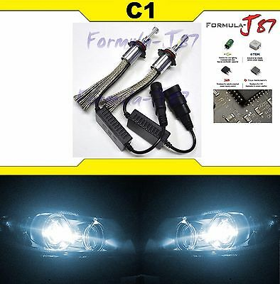 Kit Led C1 60W H12 9055 6000K Blanc Deux Ampoules Phare Remplacement Upgrade