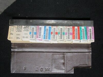 Bus Tickets State Transit Authority Of N.S.W RARE Transport Folder APP 2300 plus