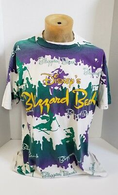 Disney Vintage 90s Blizzard Beach All Over Print Graphic T-Shirt Adult One Size