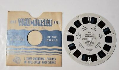 ZULULAND ZULU Natives South Africa 1950 - View-Master Viewer RARE Reel 3029