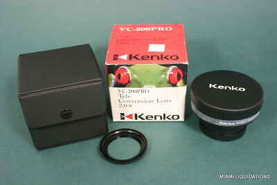 Kenko  VC-200PRO Tele-Conversion Lens 2.0X  Black GENUINE Teleconverter