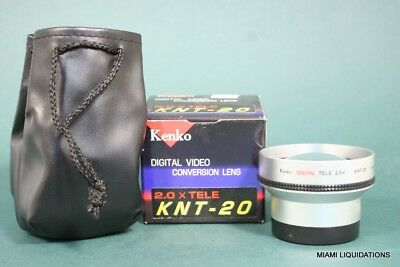 Kenko KNT-20 Digital Video Conversion Lens Black 2.0 x TELE GENUINE
